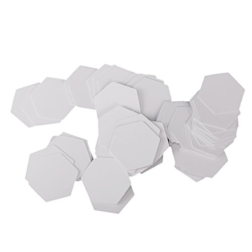 Dovewill 100 Pieces Hexagon Blank Paper Quilting Templates English Paper Piecing Patchwork Craft - 8mm