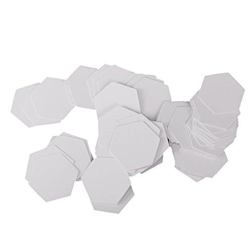 MagiDeal 100 Stück Hexagon Englisch Papier Stückung Steppvorlagen Schablonen - Weiß, 26mm