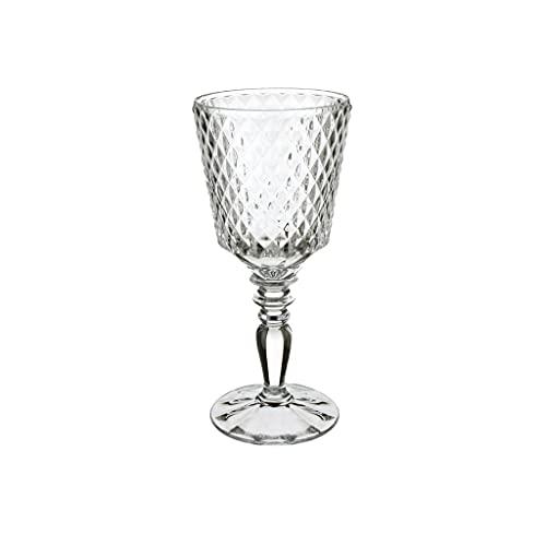 Villeroy & Boch 11-7319-8120 Villeroy & Boch-Boston Flare Lot de 4 verres à vin blanc en cristal avec motif losanges extravagants Grande surface de rangement Passe au lave-vaisselle