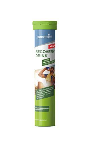 sanotact Recovery Drink Brausetabletten mit BCAA Aminosäuren und Magnesium zur Rehydration nach dem Sport, 15 Stück