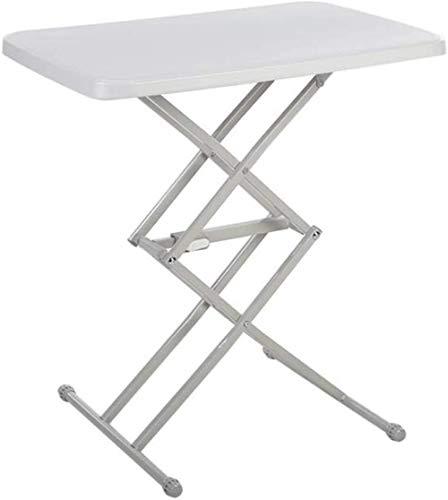 Mesa de levantamiento plegable para exteriores, mesa de escritorio portátil para el hogar, mesa de escritorio simple para niños, color amarillo y amarillo