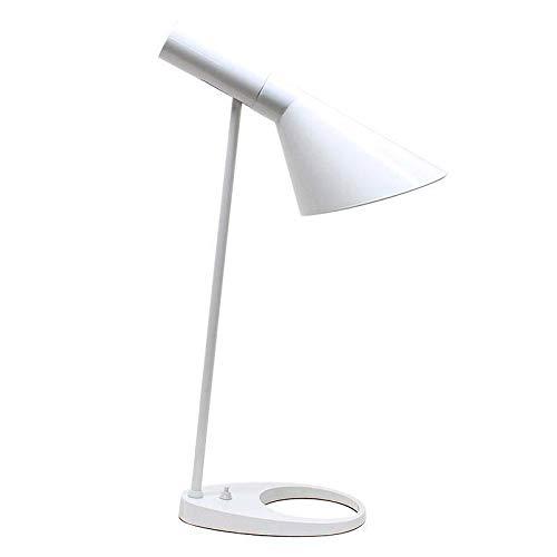 Lámpara de mesa JACOBSEN, réplica, Blanco. Lampara AJ de mesa con casquillo E27