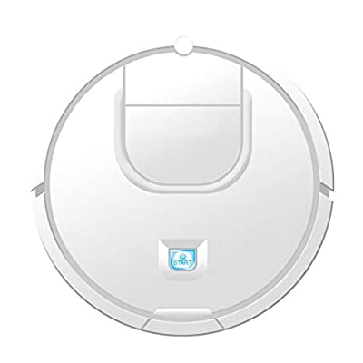 Robot Vacuum Cleaner, 1800PA Strong Suction Automatic Bot Self Detects Stairs Pet Hair Allergies Friendly Robotic Home Cleaning for Hardwood Floor & Marble, Tile (White)