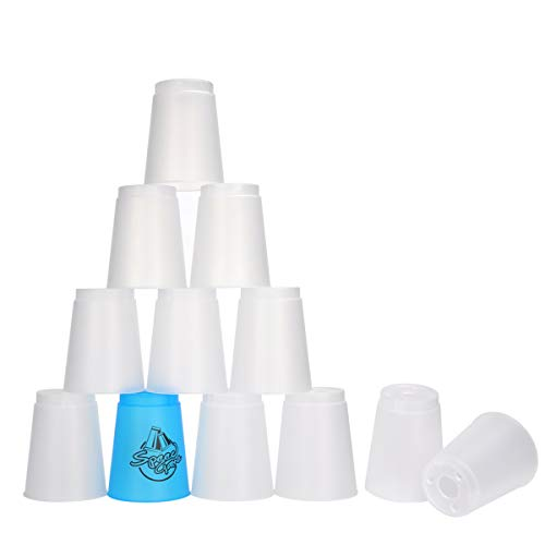 Quick Stacks Cups 12PC of Sports Stacking Cups Speed Training Game Blue