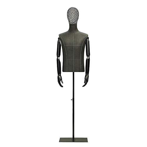 AJZGF Maniqui de Costura sastres maniquí Masculino del Torso Tienda de Ropa Estante de exhibición Modelo de Bastidor maniqui Mujer