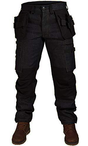 Juicy Trendz® Herren Arbeitshosen Arbeitskleidung Bundhose Multi Taschen Cargohose Denim Arbeitshose