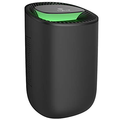 hysure Mini-Luftentfeuchter 600ml, automatische Abschaltung bei vollem Wasser,super kompakt leise Feuerzeug Peltier Entfeuchter,geeignet für Räume,Keller, Bäder (black)