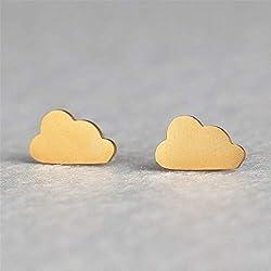 YBFZW Ohrringe Für Damen,Goldwolke Einfach Bolzenohrring Mode Kreative Temperament Persönlichkeit Trend Schöne Ohrschmuck Für Studenten, Mädchen, Party, Alltagskleidung