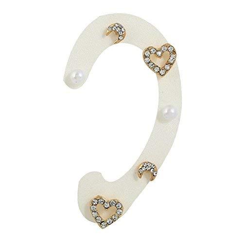 UBL PULABOOrecchini 3 paia semplici orecchini a perno con perle naturali con luna di diamante per le donne Aretes, regalo comodo ed ecologico