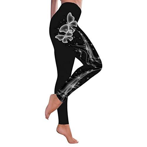 quming Levantamiento Control Barriga Pantalone,La Yoga jadea el Desgaste Flaco del Entrenamiento, Polainas del Gimnasio de Las Mujeres Deportes-Color 1_XXL de la Aptitud