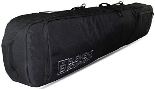Element Equipment Deluxe Padded Snowboard Bag - Premium High End Travel Bag Black 165