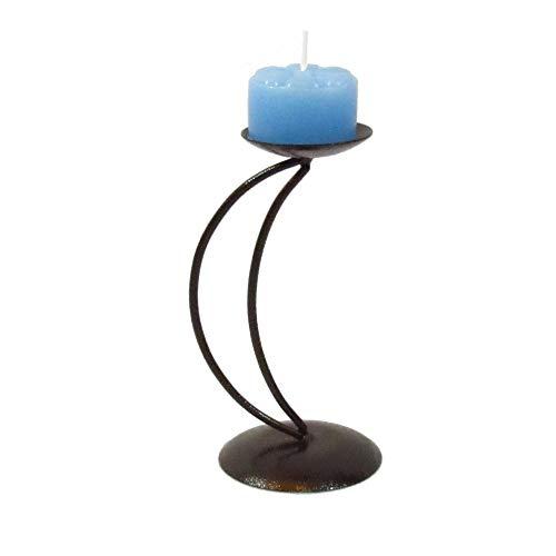 1 Castiçal Lua com 1 vela festa azul clara