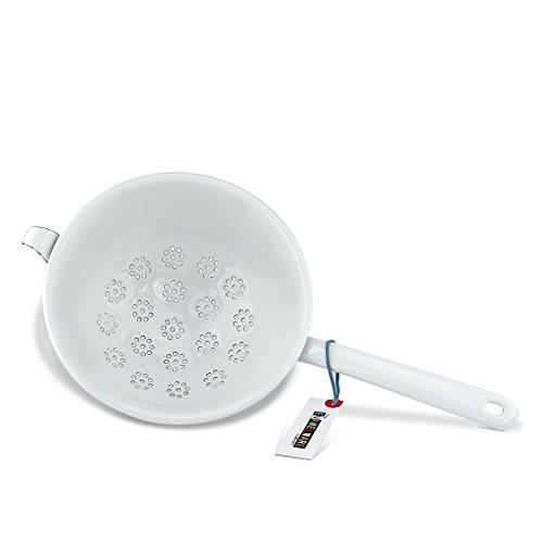 Premium Emaille Küchensieb ~ Pure white ~ 21 cm Ø ~ Made in Österreich