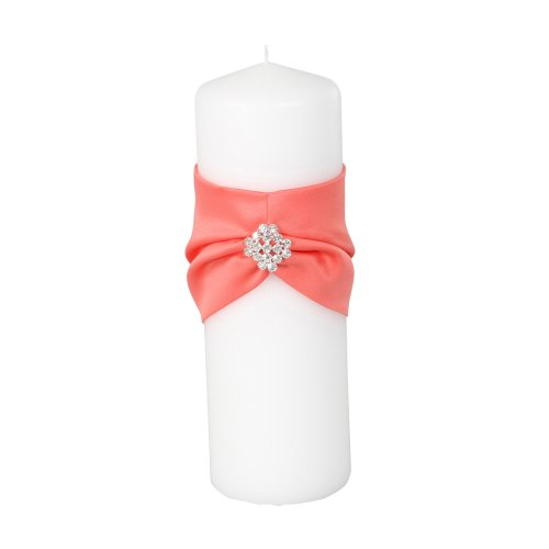 Ivy Lane Design Garbo Collection Unity Pillar Candle for Weddings, Coral