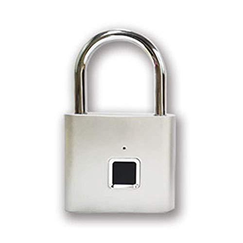 FENXIXI Candado de Huellas Digitales, un Toque Gimnasio Abierto Bloqueo for Locker, Deportes, Escuela y Empleado Locker, Maleta (Tamaño: 76x46x13mm) (Color : Silver)