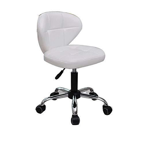 NAN liang Chaise de bar, Chaise de travail pivotante à 360 ° flexible, réglable en hauteur de 16,5 à 20,5 po avec dossier pour fauteuils de maquillage et de beauté - 5 couleurs disponibles