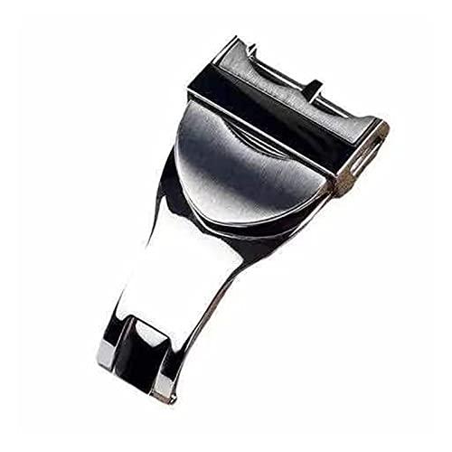 MAYALI 316L Cierre de acero inoxidable Cierre de reloj plegable Correa de reloj de reloj Banda de cinturón Ajuste especial para Tudor Black Bay 18mm Herramientas ( Band Width : 18mm , Size : Silver )