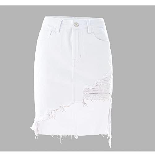 Fmiljiaty Kobiety dziewczęta krótka wysoka talia plisowana wysoka talia asymetryczne spódnice damskie mini spódnica ołówkowa kobieta wiosna lato spódnice duży rozmiar najlepszy prezent dla miłośników krótkich spódnic Kolor M