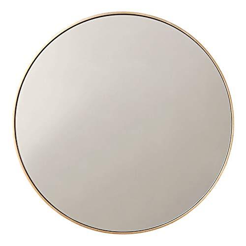 LHONG Espejo de Pared Tocador Redondo Maquillaje Mueble de Cuarto Baño Salón Sala Dormitorio Decoración Hogar