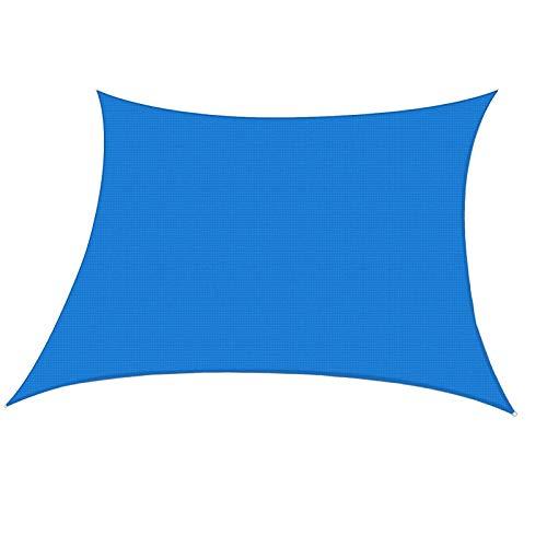Bloquear UV Toldos Color Azul Impermeables Exterior, Pergolas Para Terraza, Transpirable Rectángulo Sol Vela De Sombra, Para Solar Cubierta De Polvo Para Jardín Balcón ( Color : Blue , Size : 4x5 m )