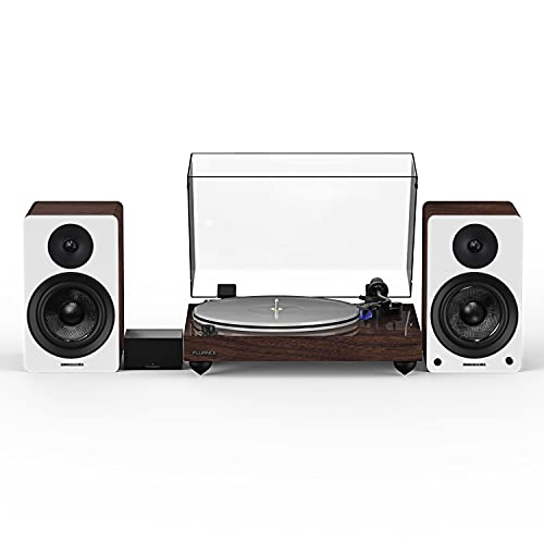 Fluance Reference RT85 High Fidelity Vinyl Turntable (Natural Walnut), PA10 Phono Preamp, Ai41 Powered 5