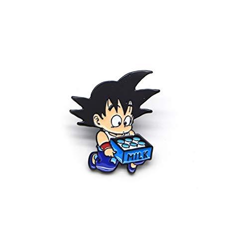 HMYDZ Cartoon Anime Broschen for Männer Emaille Pins for Kinder Revers Pin-Tasche Pins Hut-Abzeichen Wukong bewegen Milch Brosche
