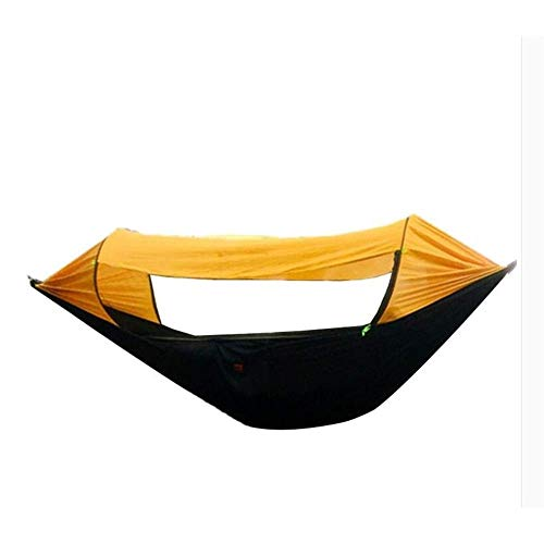 Los viajeros Hamaca Abrir Nueva Rápida al Aire Libre Sombra Tienda de campaña portátil Mosquito Hamaca Columpio Cubierta del Suelo (Color: Amarillo) Hslywan (Color : Orange)