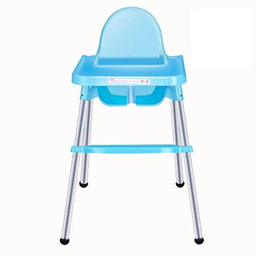 QinWenYan Salle à Manger pour Enfants Chaise Chaise Haute À Plateau Réglable pour Bébé Tendance Haute Bébé Chaï (Color : Blue)
