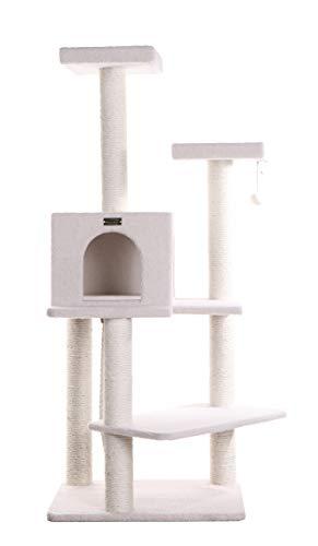ARMARKAT Kratzbaum / Eck-Kratzbaum B5701 in Farbe Elfenbein mit Großkatzenhaus