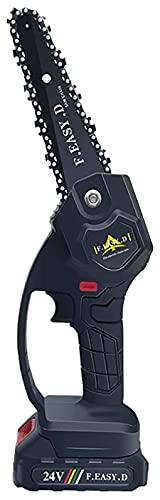 H-BEI Mini Motosierra eléctrica de 5 Pulgadas, motosierras mejoradas con Cargador y batería, Motosierra portátil con batería Recargable para poda de árboles y Jardines, Mini Motosierra