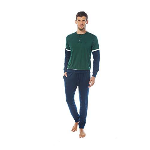 Nazareno Gabrielli Pigiama Uomo Lungo - Manica Lunga E Pantalone Lungo. Disponibile in Due Varianti Colore