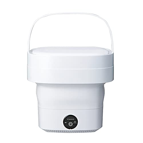 ドウシシャ 折りたためる洗濯機 小型 ミニ マスク洗濯 ホワイト