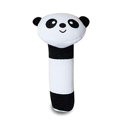 Homeng BB Stick Bell Shaker Neugeborene Greifspielzeug Säuglingskind Baby Rassel und Quietschspielzeug, Panda, 15 cm