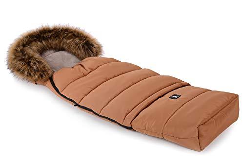 Cottonmoose Combi Yukon Fur Saco de invierno dormir térmico para carrito silla de bebé universal abrigo polar (amber)