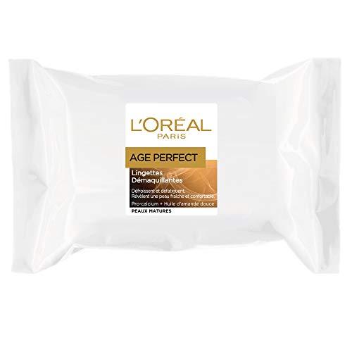 L'Oréal Paris - Age Perfect - Lingettes Démaquillantes - Peaux Matures - Pack de 25