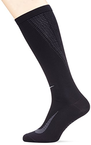 Nike U NK ELT COMP OTC - Unisex Socken,Schwarz (Schwarz / Anthrazit / Reflexsilber), 42-46