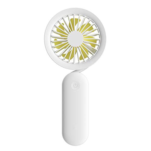 DFSDG Ventilador de Cuello de Ventilador portátil Mini Ventilador de Mesa Recargable Plegable USB silencioso para Ventiladores de Escritorio de Oficina (Color : White)