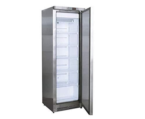 Kühlschrank Lagerkühlschrank Edelstahl 400 Liter - Temperatur 0~+8 °C - Digitales Thermostat - abschließbar