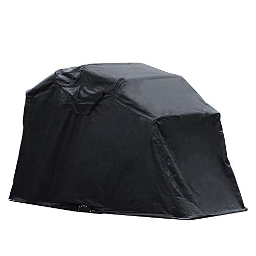 VEVOR Motorcycle Tent Motorbike Cover 600D 269cm x 104cm x 155cm Larger Shelter UV Resistant Dustproof Shield Fit Most Motorcycles