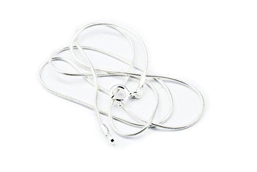 Windalf Zarte Schlangen Halskette Emotion 40 cm Damen Silberhalskette für Anhänger Schlicht Zart Fein Silberkette 925 Sterlingsilber