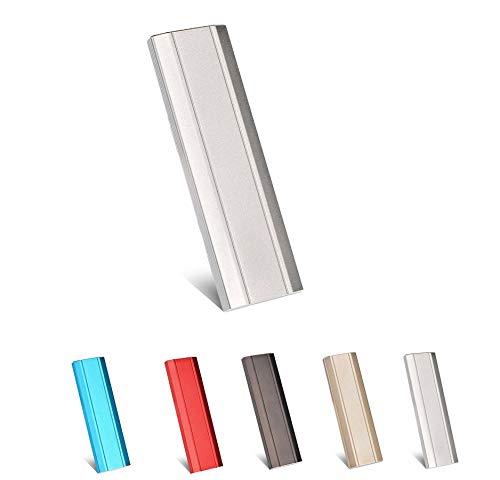 Disco duro externo 1TB 2TB USB 3.1 para PC, Mac, ordenador de sobremesa, ordenador portátil, Chromebook, Xbox 360 (Silver-2TB)