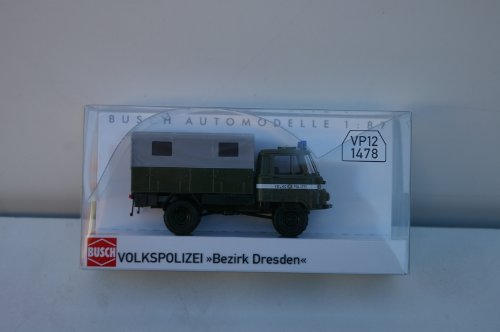 Busch Voitures - BUV50298-01 - Modélisme - Camion Police Nationale de Berlin