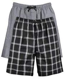Hanes Mens 2-Pack Woven Pajama Short