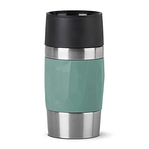 Emsa N21603 Travel Mug Compact Thermo-/Isolierbecher aus Edelstahl | 0,3 Liter | 3h heiß | 6h kalt | BPA-Frei | 100% dicht | auslaufsicher | spülmaschinengeeignet | 360°-Trinköffnung | Grün
