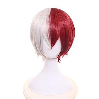 MUZI WIG Anime Cosplay Wig with Free Wig Cap for My Hero Academia  Shoto Todoroki 1