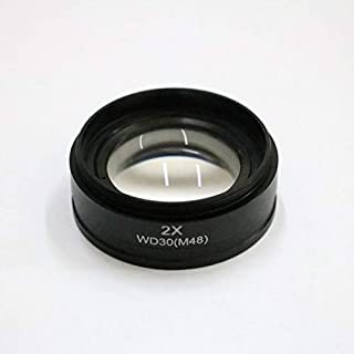 Mercury/_Group Color:0.5X 0.5X 1X 1.5X 2X Barlow Auxiliary Microscope Objective Lens Thread 48mm Mount Digital Stereo Microscope Lens for Changing View