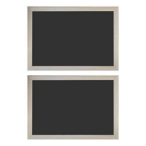 Mehrondo 2 Stück Kreidetafeln mit Rahmen KT340R - Größe: 34 x 24 cm