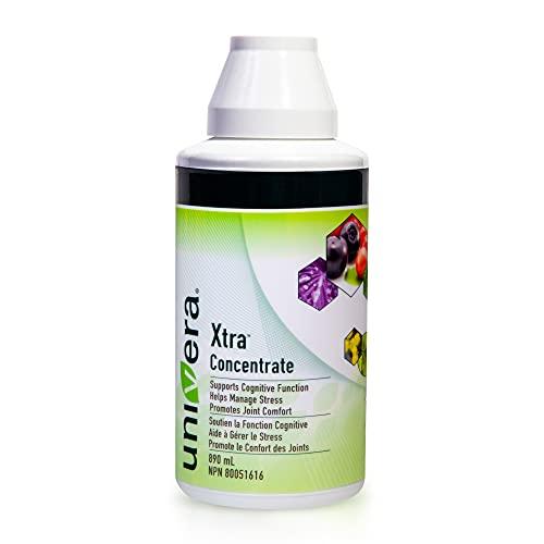 Univera Xtra Concentré, gestion du stress, concentration et clarté, santé des articulations, protection antioxydante, flacon de 890 ml