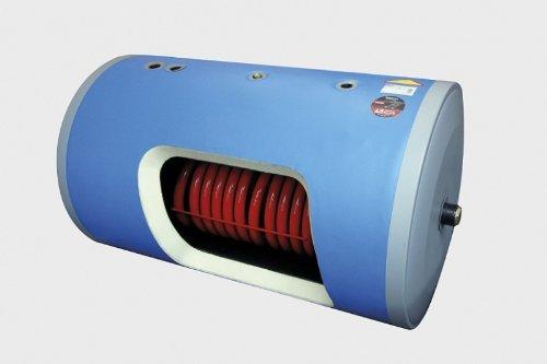 140 Liter Warmwasserspeicher - liegend - mit 1 Wärmetauscher (Heizspirale)