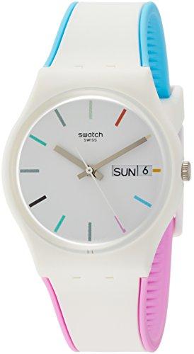 Swatch Damen Analog Quarz Uhr mit Silikon Armband GW708